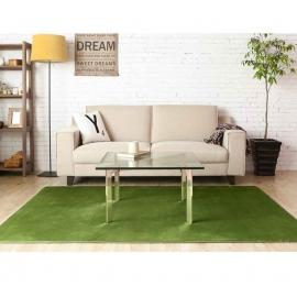 Ковер JumKids Mocco Premium зелёного цвета с коротким ворсом